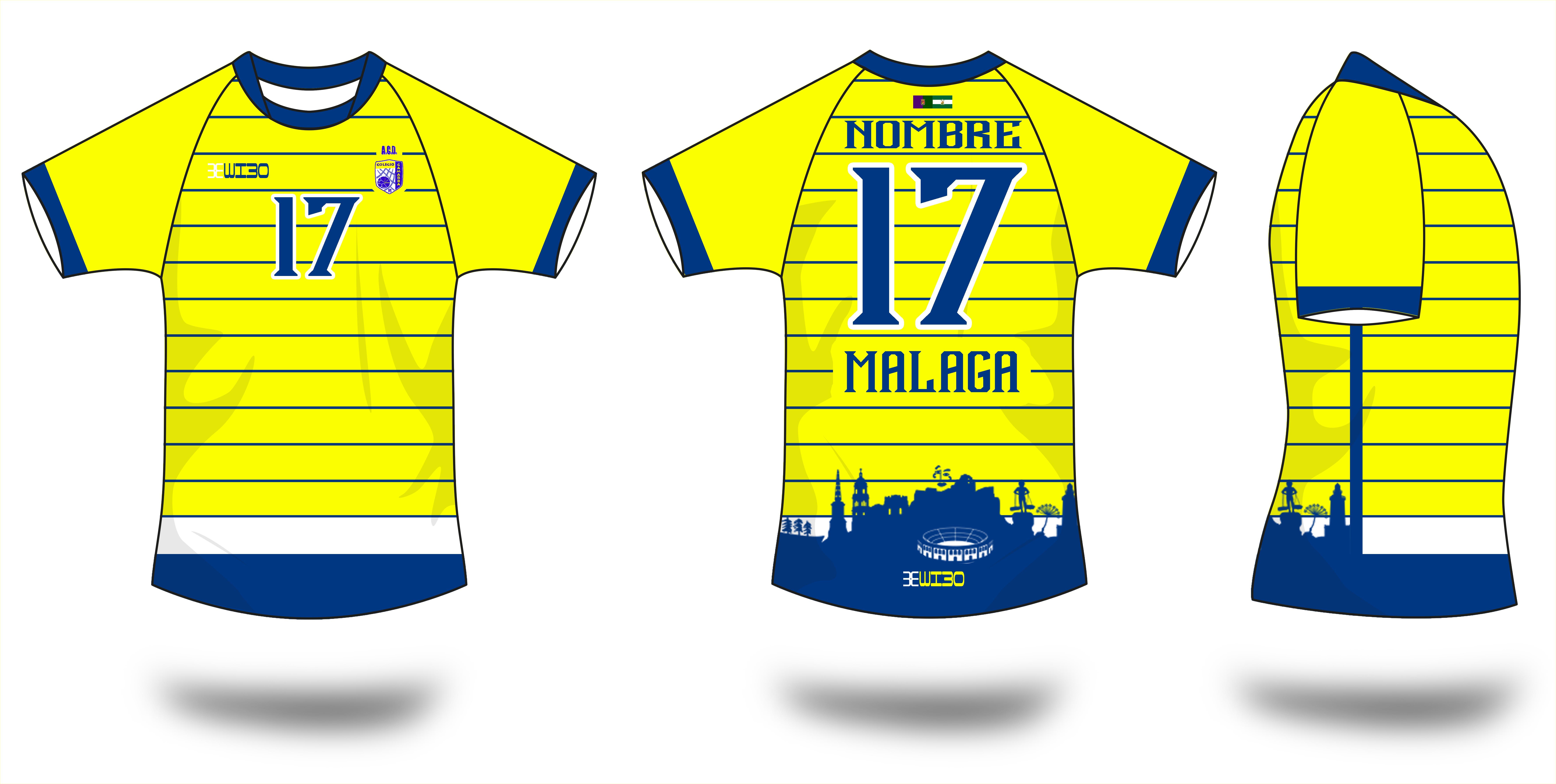 Camiseta Amarilla Futbol ACD Gamarra Málaga Wibo Store e9df664e07f3c