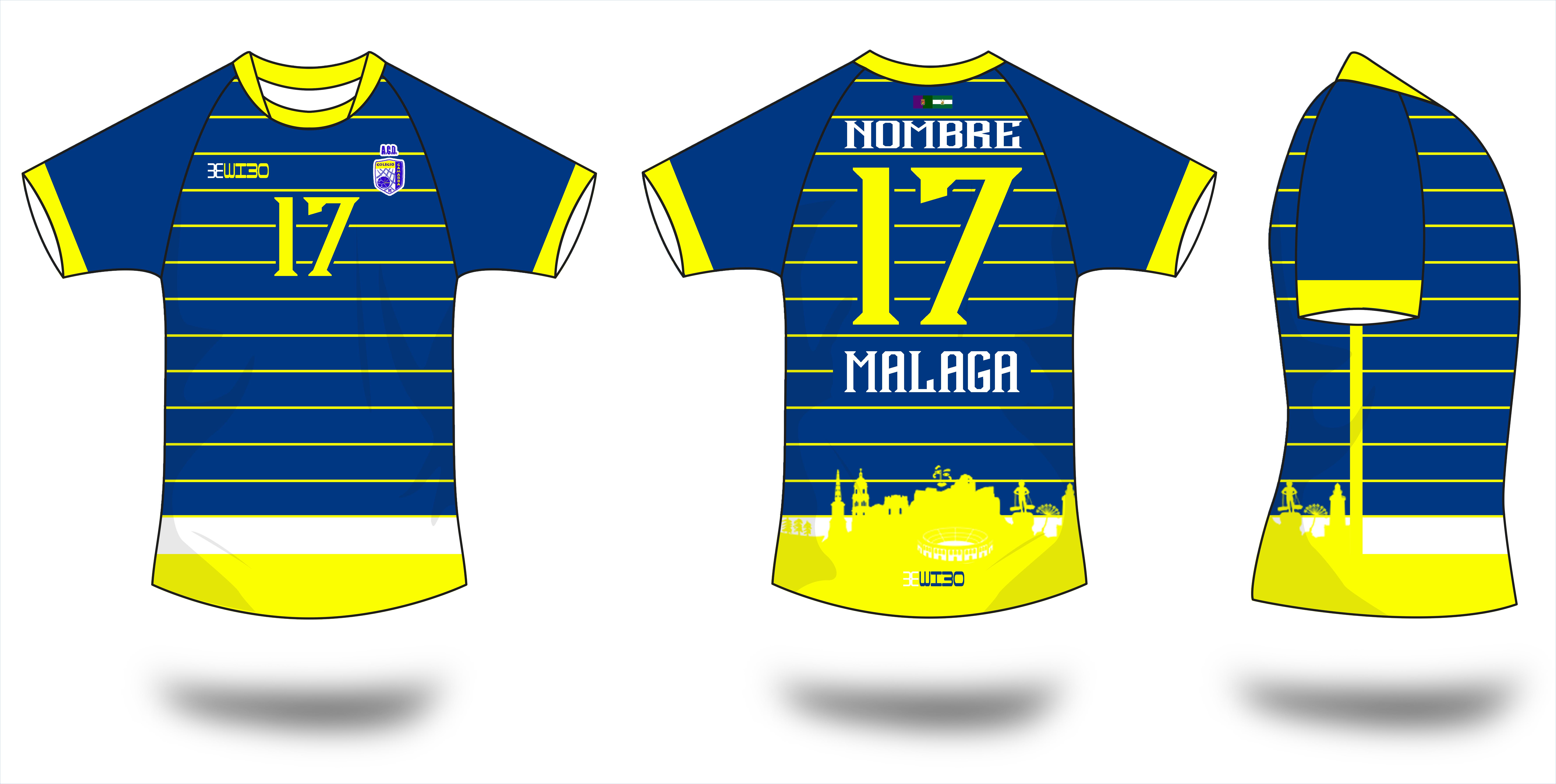 747a66124bd2d Camiseta Azul Futbol ACD Gamarra Málaga - Wibo Store