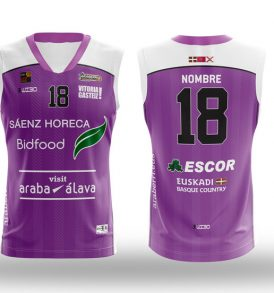 Equipación morada LEB ORO Araberri Basket Club