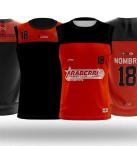 Equipación entrenamiento cantera Araberri Basket Club