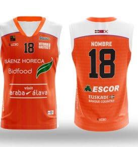 Equipación naranja LEB ORO Araberri Basket Club