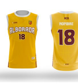 Equipación Amarilla Baloncesto CD Colegio Alborada